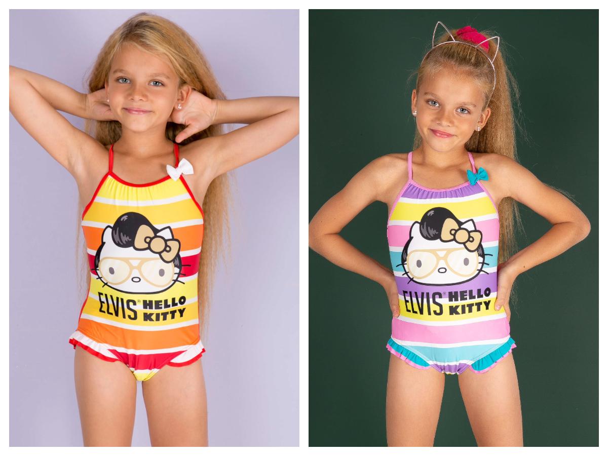 Jednoczęściowe stroje kąpielowe dla dzieci dziewczynka