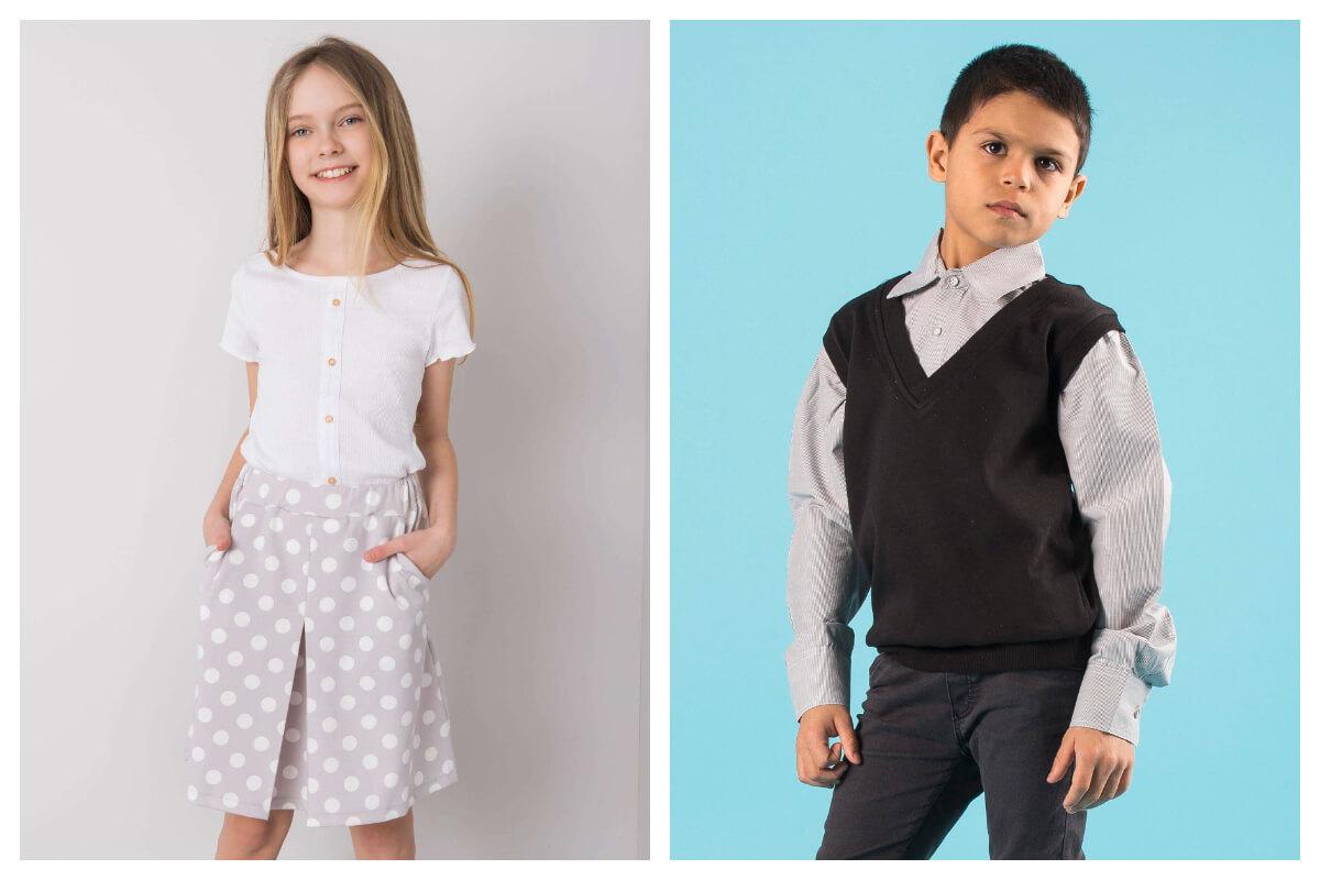 Galowe stylizacje na rozpoczęcie roku szkolnego dla chłopca i dziewczynki